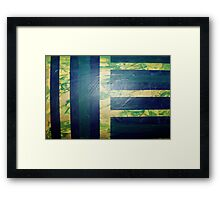 Heal Teal Framed Print