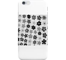 black & white flowers iPhone Case/Skin