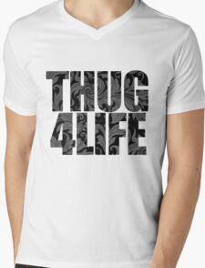 Thug 4 Life Mens V-Neck T-Shirt