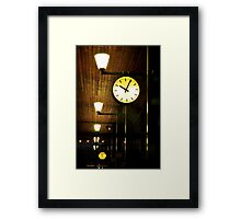 Lonely Clock Framed Print