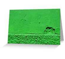 A green sunset Greeting Card