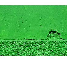 A green sunset Photographic Print