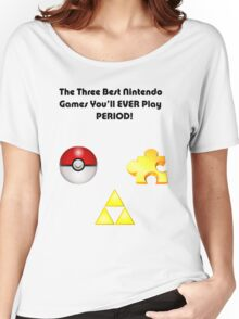 Nintendo's Best Three Games Women's Relaxed Fit T-Shirt