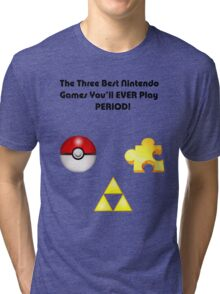 Nintendo's Best Three Games Tri-blend T-Shirt