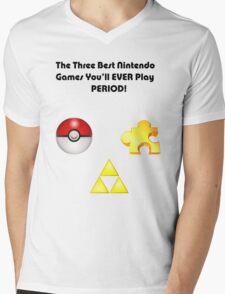 Nintendo's Best Three Games Mens V-Neck T-Shirt