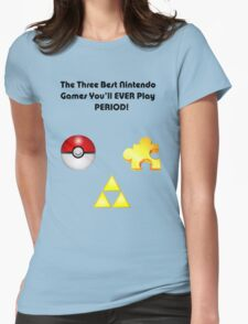 Nintendo's Best Three Games Womens Fitted T-Shirt