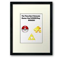 Nintendo's Best Three Games Framed Print
