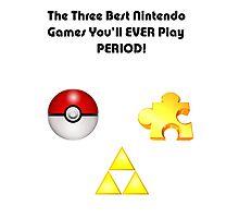 Nintendo's Best Three Games Photographic Print