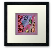purple texture Framed Print