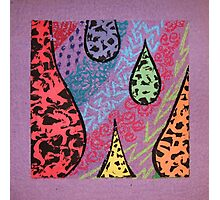 purple texture Photographic Print