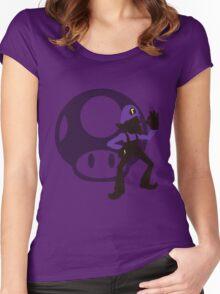 Waluigi - Sunset Shores Women's Fitted Scoop T-Shirt