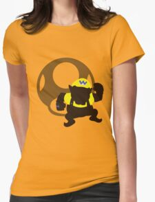 Wario (Mario) - Sunset Shores Womens Fitted T-Shirt