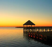 Cabana, Sunset, Whalehead Club, Outer Banks, North Carolina by fauselr