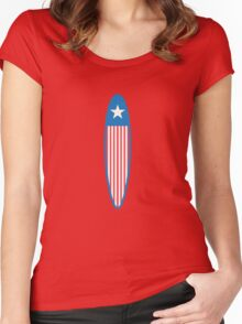 American Surfboard. Women's Fitted Scoop T-Shirt