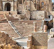 Remains of Roman Theatre & Santa Maria La Vieja Cathedral, Cartagena, Spain by Squealia