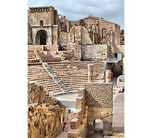 Remains of Roman Theatre & Santa Maria La Vieja Cathedral, Cartagena, Spain Photographic Print