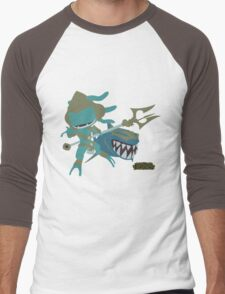 LoL | Minimalist Atlantean Fizz Men's Baseball ¾ T-Shirt