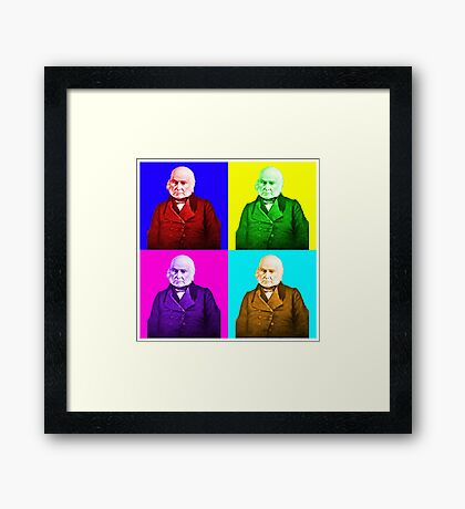 John Quincy Adams Pop Art Framed Print