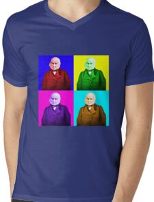 John Quincy Adams Pop Art Mens V-Neck T-Shirt