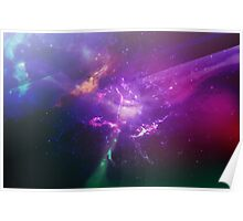 Galaxy Lights Poster