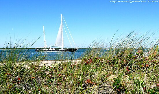 #513   Grassy Dune & Yacht by MyInnereyeMike