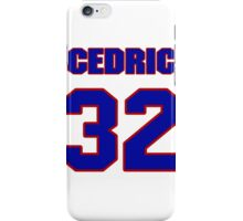 National football player Cedric Benson jersey 32 iPhone Case/Skin