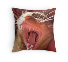 yawn Throw Pillow