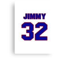 National football player Jimmy DeRatt jersey 32 Canvas Print