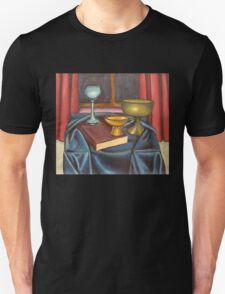 bowls and book still life Unisex T-Shirt