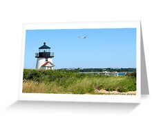 #514   Brant Point Lighthouse    Greeting Card