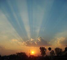 Sunset Orange Skies by DefloweredMind