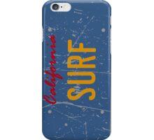 California surf plate - Distressed version iPhone Case/Skin