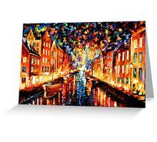 Night Copenhagen — Buy Now Link - www.etsy.com/listing/220455152 Greeting Card