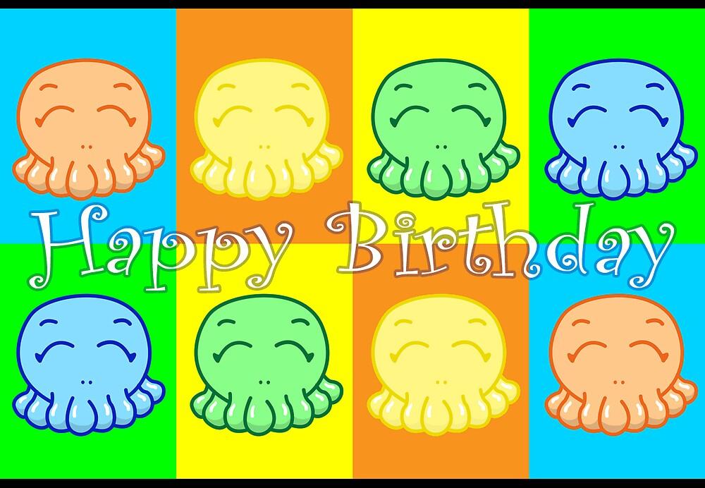 Happy Birthday: Happy Tako Card by Vestque