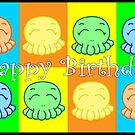 Happy Birthday: Happy Tako Card by Vestque