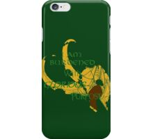 I am burdened with glorious purpose-Green text iPhone Case/Skin