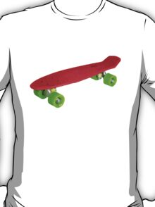 Retro Skate - Red version - Amazing transparente effect T-Shirt