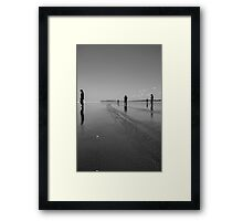 Silhouettes on the Sand Framed Print