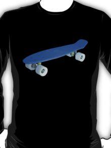 Blue retro Skate - Amazing 3D transparent Effect T-Shirt