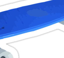 Blue retro Skate - Amazing 3D transparent Effect Sticker