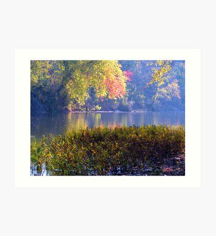 Morning Side, White River Art Print
