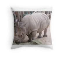 magestic rhino from az Throw Pillow