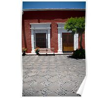 Colonial Courtyard Poster