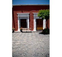Colonial Courtyard Photographic Print