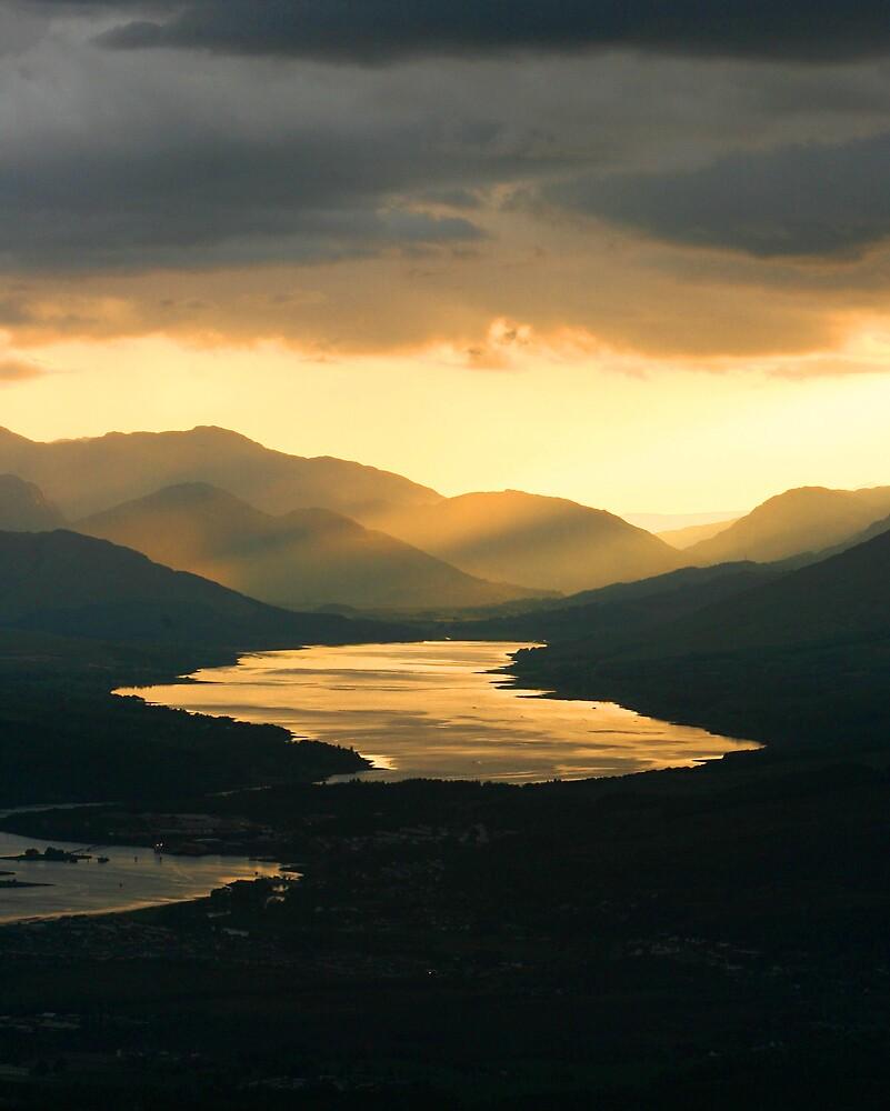 Sunset on Loch Eil by dsargent