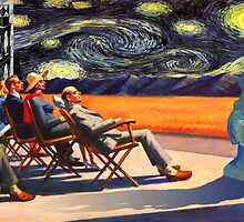 HOPPER PEOPLE WATCH A STARRY NIGHT by Reese Forbes