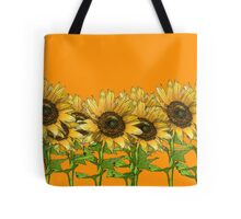 Sunflower Orange Tote Bag