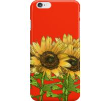 Sunflowers Red iPhone Case/Skin