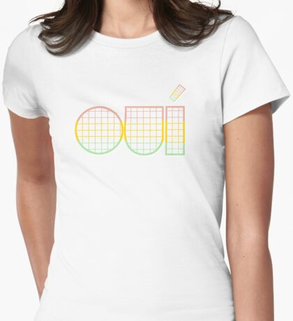 oui, sir. Womens Fitted T-Shirt