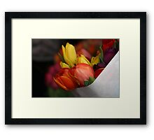 January Bouquet Framed Print